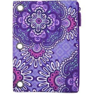 Purple binder zipper pouch